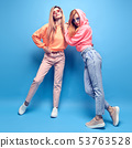 Two hipster Girl Fool Around, Stylish neon Outfit 53763528
