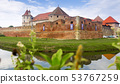Castle on the lake is landmark of Fagaras 53767259