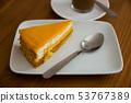 Chiffon cake with orange jelly 53767389