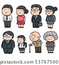 vector set of people 53767500
