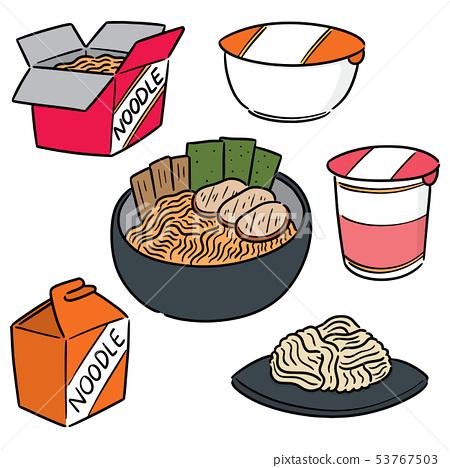 vector set of noodle 53767503