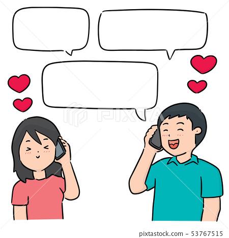 vector set of people talking 53767515
