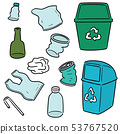 vector set of recycle garbage and recycle item 53767520