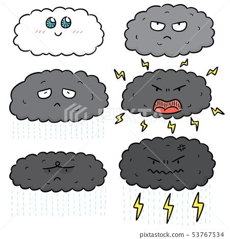 vector set of cloud cartoon 53767534