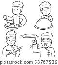 vector set of chef 53767539