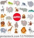 cartoon animal characters large set 53769069