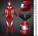 Auto race driver protective suit realistic vector 53769215