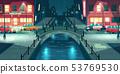 Night city street in rainy weather vector 53769530