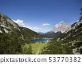 Top view of mountain lake Seebensee     53770382