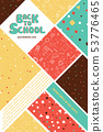 Colorful back to school information flyer template 53776465