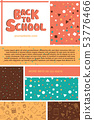 Colorful back to school information flyer template 53776466