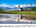 <<Nagano Prefecture>> Hakuba Village with a view of Azusa and Northern Alps 53776773