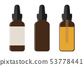 set of medical phial isoladet on white background 53778441