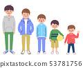 5个男孩的颜色 53781756