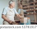 man, elderly, clay 53781917