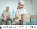 couple, woman, elderly 53781930
