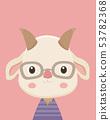 Cute goat. 53782368