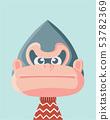 Cute gorilla. 53782369