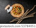 샐러드 Beautiful and colorful chopped salad 53784051