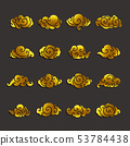 gold clouds icon set 53784438