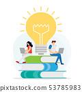 Distance education concept. Knowledge online, 53785983