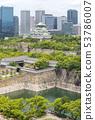 新鮮的綠色和大阪城堡大阪城和商業公園大阪熱門景點 53786007
