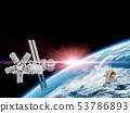 우주 정거장과 우주 비행사 53786893