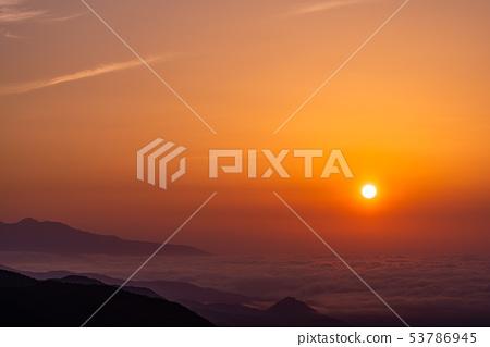 (櫪木縣)從日光伊羅哈斜坡看到的黎明 53786945