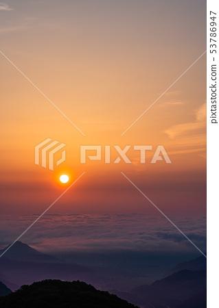 (櫪木縣)從日光伊羅哈斜坡看到的黎明 53786947