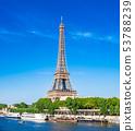 世界遺產巴黎塞納河埃菲爾鐵塔 53788239