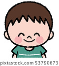 미소 소년 일러스트 53790673