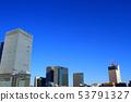 도쿄도 도시 풍경 도쿄 역 빌딩의 풍경 53791327