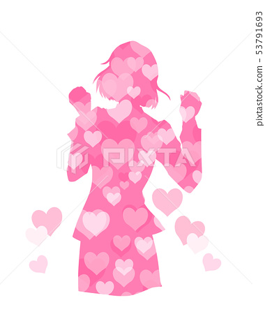Illustration of a woman who was happy in love 53791693
