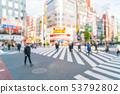 abstract blur at Shinjuku in Tokyo City 53792802