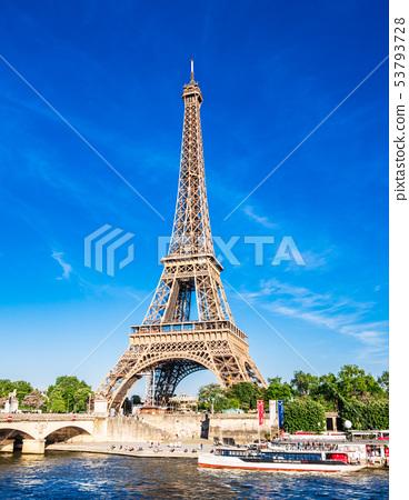 世界遺產巴黎塞納河埃菲爾鐵塔 53793728