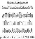 Urban Landscape, city  skyline vector illustration 53794184