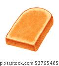 토스트 두껍게 썬 산형 53795485