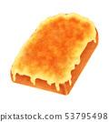토스트 치즈 두껍게 썬 산형 53795498