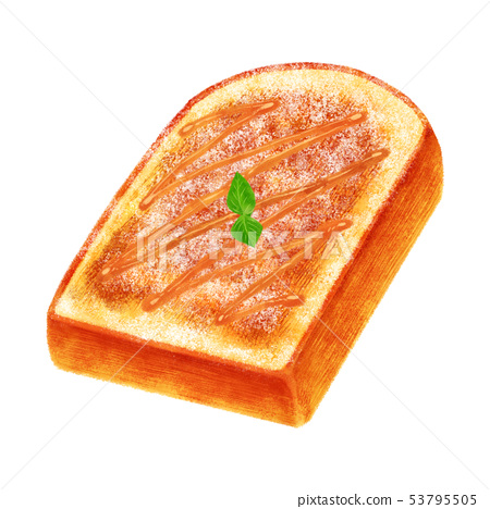 French toast (mountain shape) 53795505