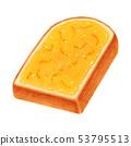토스트 마멀레이드 잼 두껍게 썬 산형 53795513