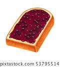 토스트 블루 베리 잼 두껍게 썬 산형 53795514