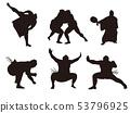 相撲摔跤剪影1 53796925