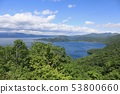 Lake Towada seen from Shimei Mio Observatory 53800660
