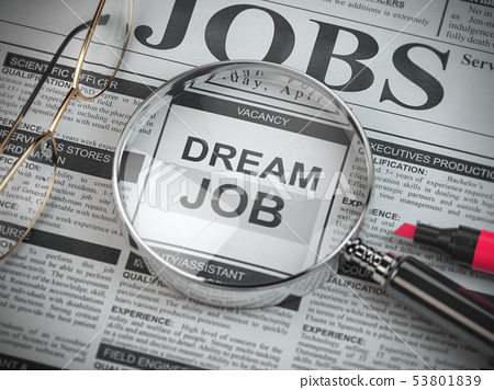 Dream job concept. Job search and employment. 53801839