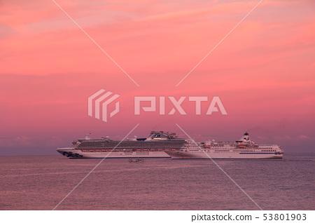 漂浮在豪華班輪太平洋(Diamond Princess&PACIFIC VENUS) 53801903