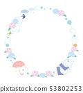Frame material-rainy season image 1 53802253