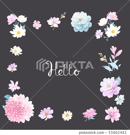水彩開花材料 53802481