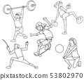 Olympic Games new line drawing 53802970
