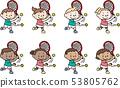 来自不同国家的儿童打网球 53805762