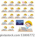 Nursery school boy_desk work 53806772